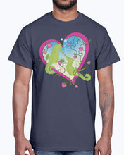 Load image into Gallery viewer, G2000 Unisex Ultra Cotton T-Shirt.  Seahorse Love