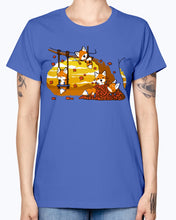 Load image into Gallery viewer, Gildan Ladies Missy T-Shirt 16 colors  Fall Fox Fun