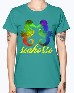 Gildan Ladies Missy T-Shirt   Love Seahorse Shirt
