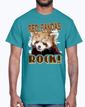Load image into Gallery viewer, Men's Gildan Ultra Cotton T-Shirt Graffiti Skateboarder. RED PANDAS ROCK