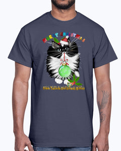 Men's Gildan Ultra Cotton T-Shirt  A Tuxedo Kitten Christmas (Mens)