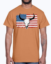 Load image into Gallery viewer, Men's Gildan Ultra Cotton T-Shirt 12 Dark colors   Buffalo USA Flag