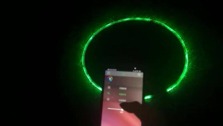 "New 35""-185 LED Lights  Smartphone Bluetooth control Professional Smart Hoop. Fully Rechargeable"