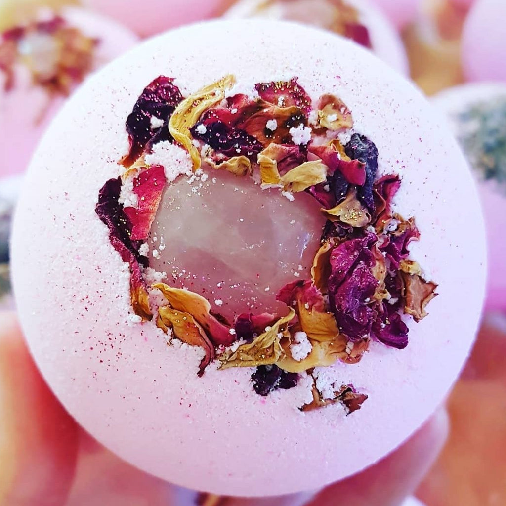 Rose Quartz Crystal Bath Bomb
