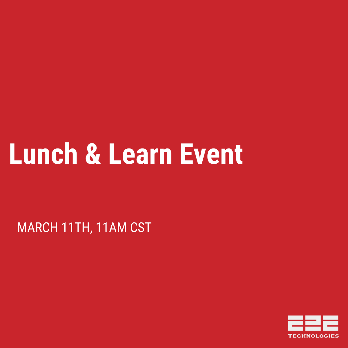 Microwave Backhaul Lunch & Learn