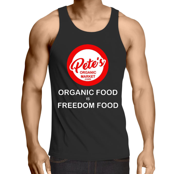 """FREEDOM FOOD"" - Mens Singlet Top"