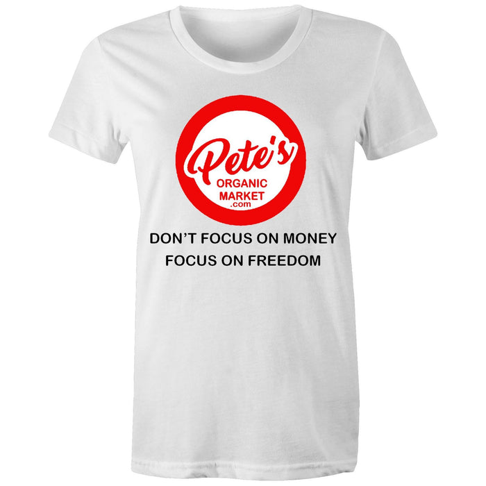 """FOCUS"" - Women's Maple Organic Tee"