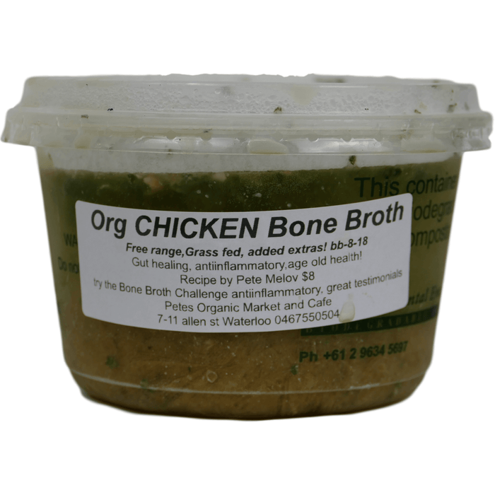 Organic Chicken Bone Broth - Petes Organic Market