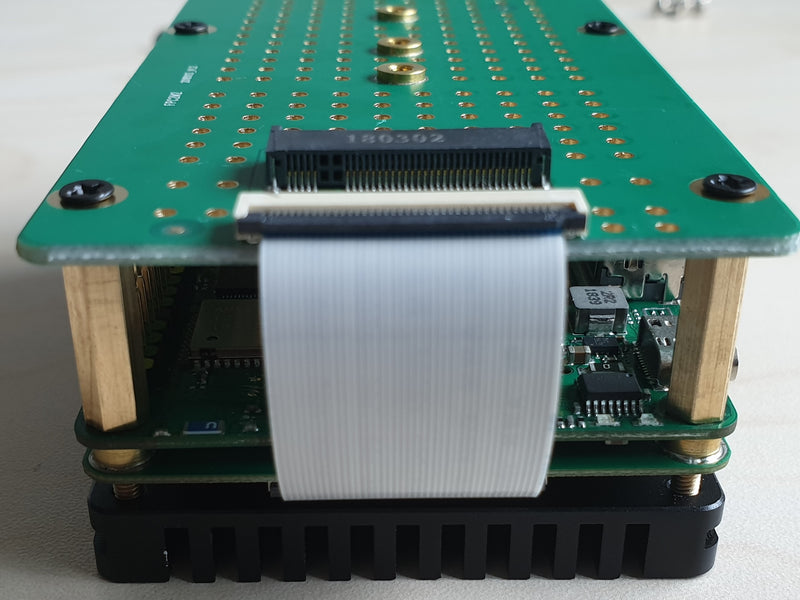 M.2 extension board assembly with big heatsink