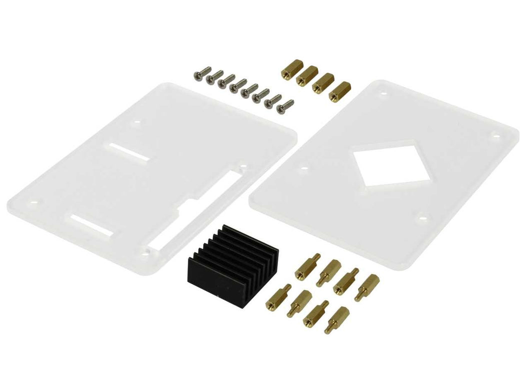 Acrylic Case (incl. CPU Heat Sink) for ROCK PI 4