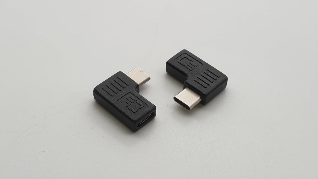 USB-C 3.1 female to USB-C male 3.1 90° adapter