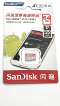 Load image into Gallery viewer, SanDisk Ultra microSDXC™ UHS-I A1 100MB/s