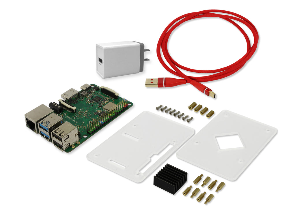 ROCK PI 4B - Performance set (With Dualband 2,4/5GHz WLAN/Bluetooth 5.0)