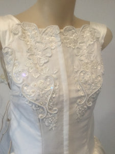 Harrietti vintage beaded silk bridal gown