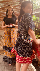 Benji desert waves maxi skirt (10-14)