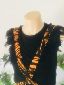 Feather warrior fabric harness -(one size)