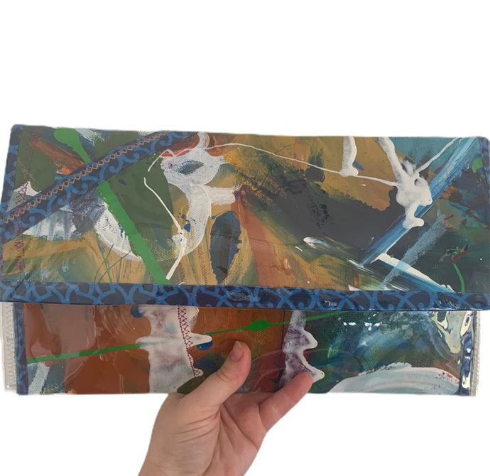 Mighty isles paintbox clutch