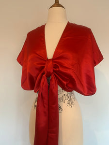Eliza Red  kaftan crop