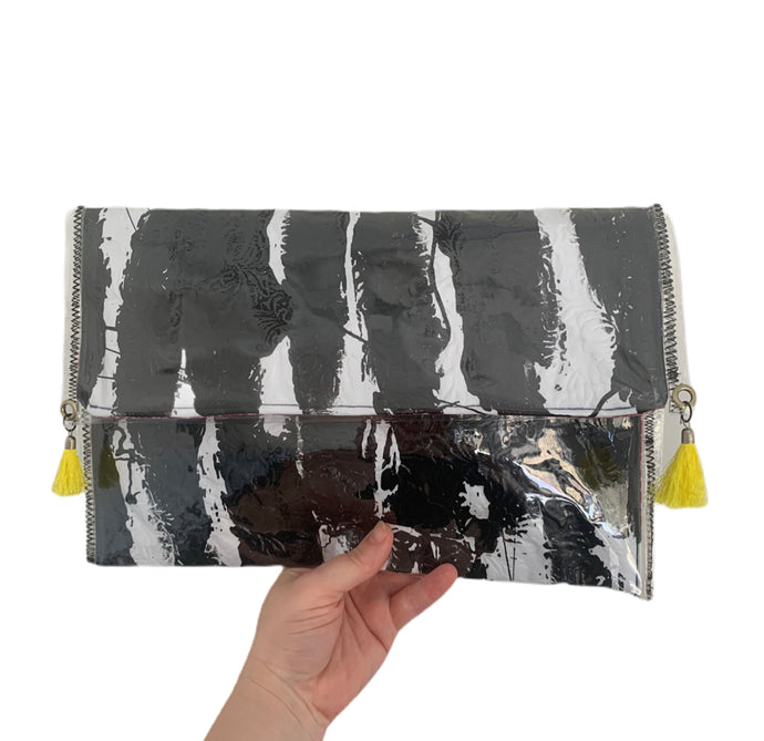 The zebra paintbox clutch