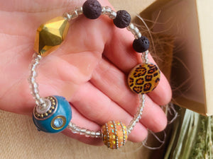 The Feature lava bead bracelet