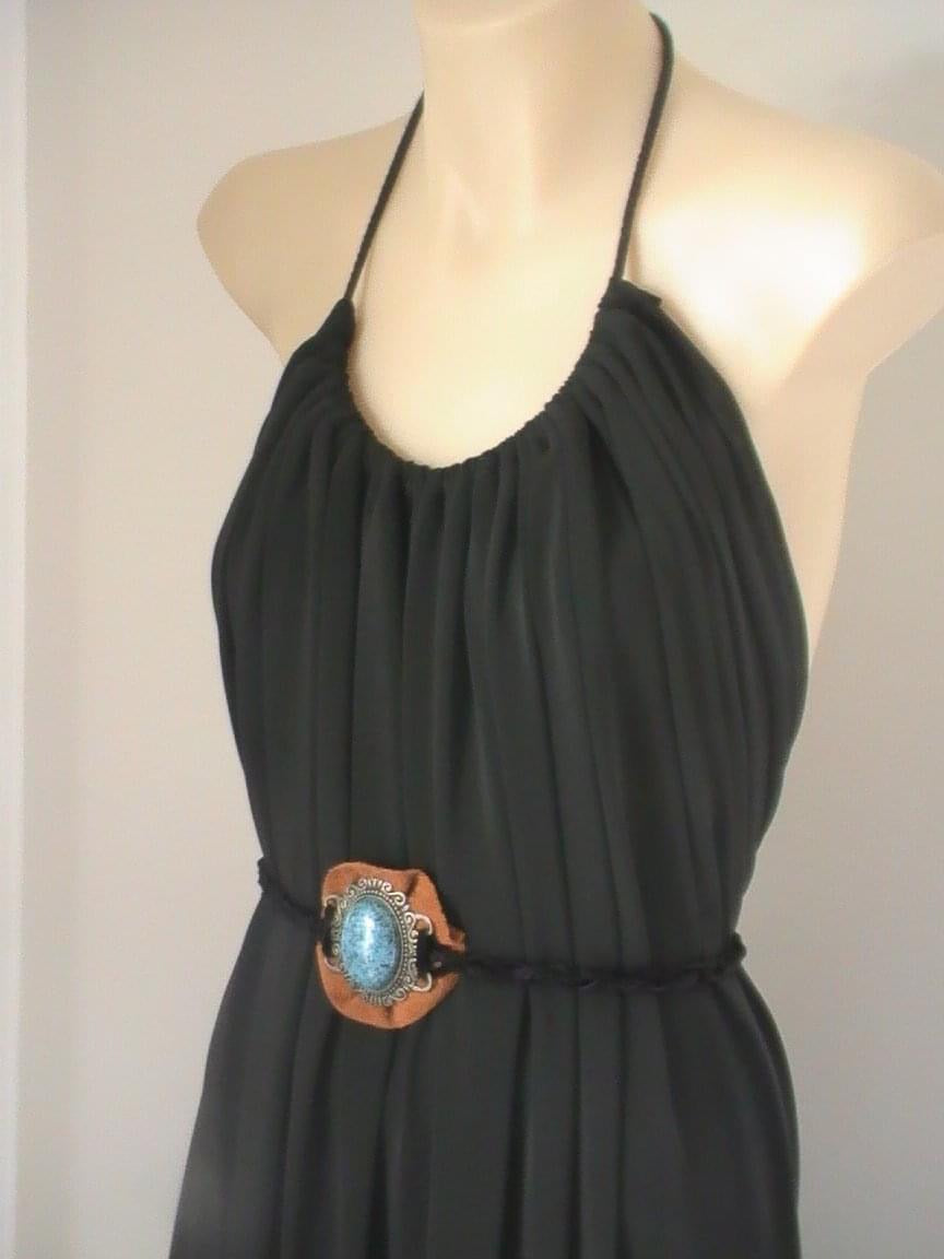Evo belted maxi in Jet black - one size