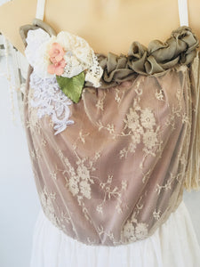 Songbird lace floated gown