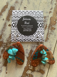 Desert sands turquoise stone earrings