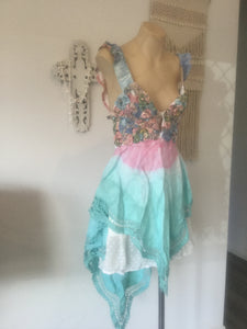 Gypsy rose pastel tye dye playdress (6-10)