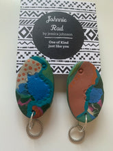 Crocs at sunset dangle earrings