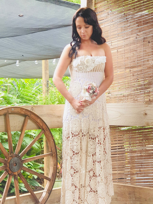 Grier Crochet bridal gown