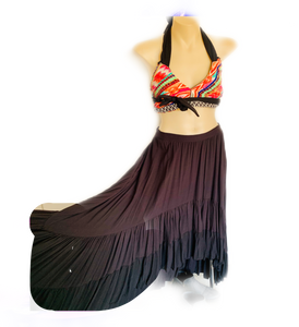 Jet night sweeper maxi skirt