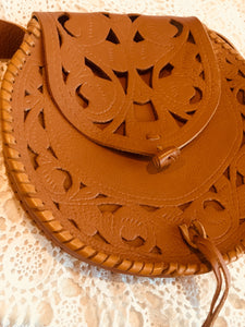 Bronte leather tooled handbag