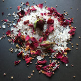 Bath Salts and Candle (Rose) set