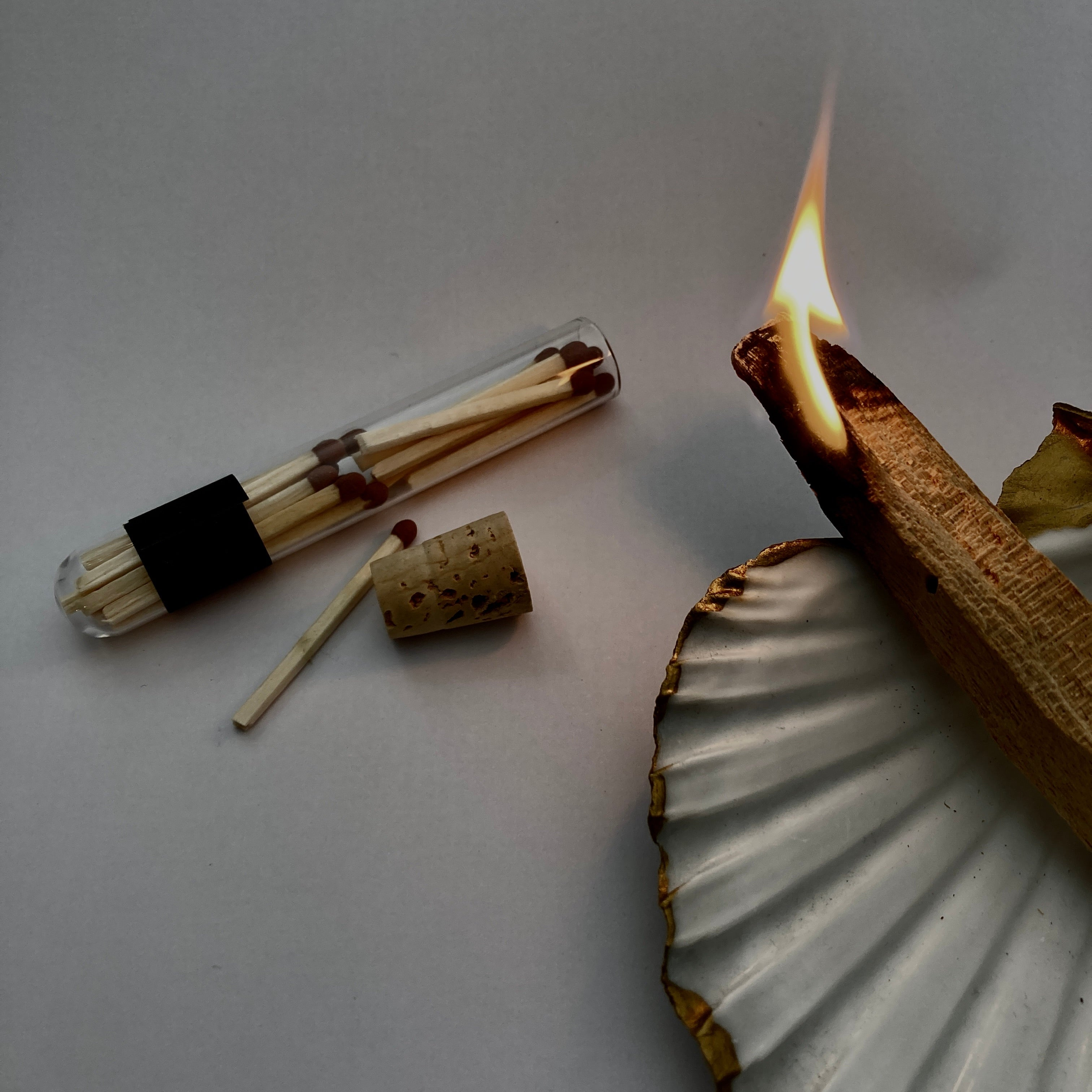 matches in a test tube