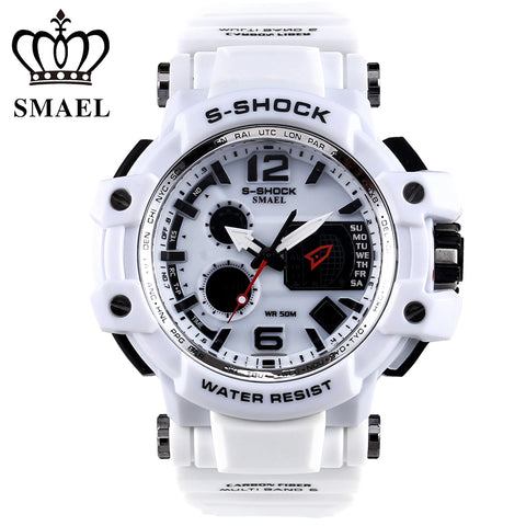 SMAEL Brand Men Sport Watches LED Digital watch men 50M Waterproof Casual quartz Watch Male Clock Men relogios masculino Gift