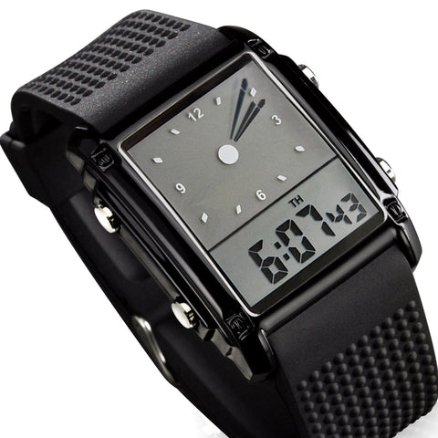 Skmei Fashion Men Sports Watches Dual Time Digital Quartz 30m Waterproof LED Colorful Backlight Casual Dress Men Wristwatch