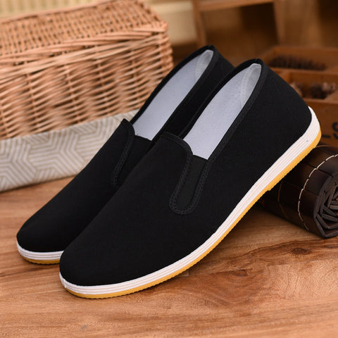 Men Shoes Sapatos Hombre Flats Shoes Men Black Casual Shoes Mens Alpargatas Loafers canvas shoes zapatos mujer plus size 37-45
