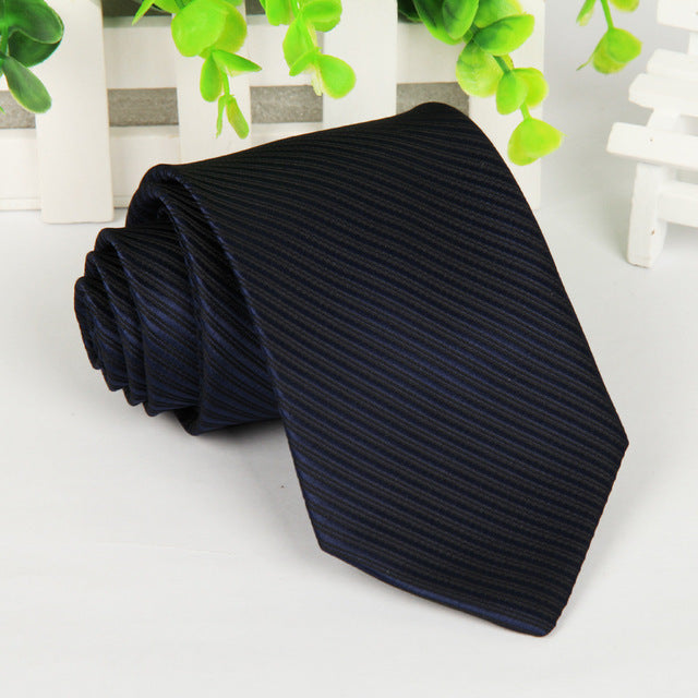 20 style brand Polyester neck tie for men Solid black corbatas 8 cm gravata slim formal social event green wedding dress lot