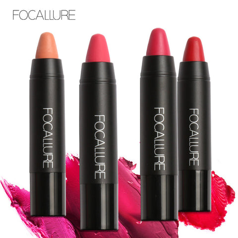 FOCALLURE 19 Colors Matte Lipsticks Waterproof Matte Lipstick Lip Sticks Cosmetic Easy to Wear Lipstick Matte Batom