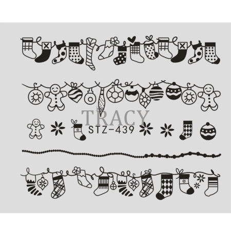 1 Sheet Water Nail Sticker Christmas Design Temporary Tattoos Elk/Snow Flowers/Owl Pattern Transfer Beauty Nail Art TRSTZ429-439