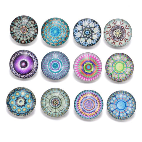 12pcs/lot Mixed Colors Exotic 18mm Glass snap button Jewelry Faceted glass Snap Fit snap Bracelet snaps jewelry KZ0088