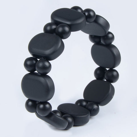 100%Quality Real Bianshi Black Bian Natural Stone Bianshi Bracelet Carve Black Bracelet For Men&Women jewelry