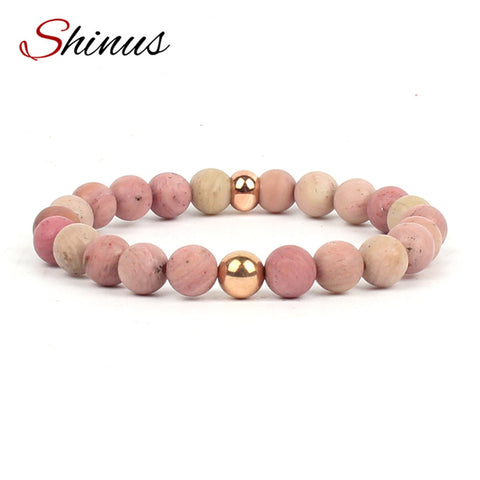 Shinus Bracelet Jewelry Men Women Bracelets Boho Chakra Gifts Natural Stones Beads Strand Yoga Beaded Energy Meditation 2017 New