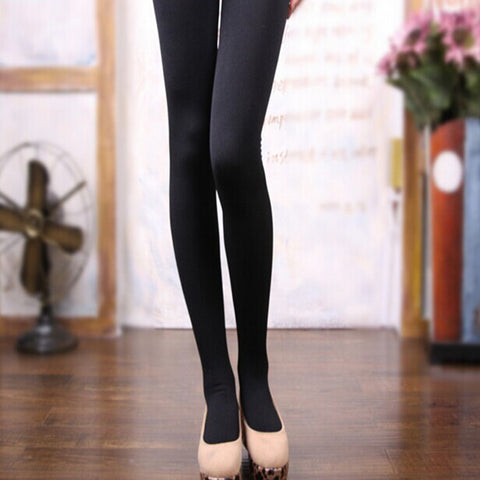 High Quality Sexy Warm Thick Plus Winter Leggings Pants Slim Elasticity Womens high waist skin leggins pant Free shipping