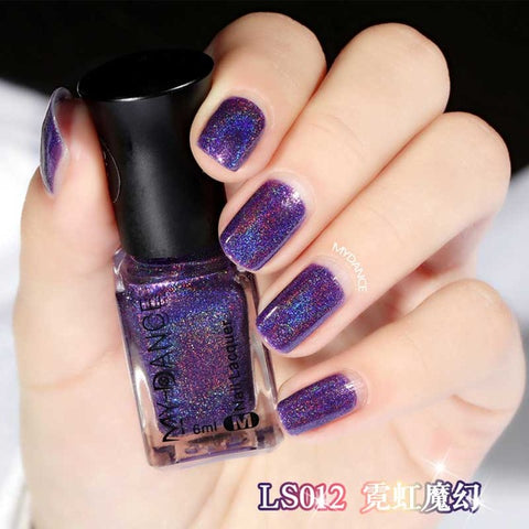 12 Colors Ultra Shining Color Nail Polish Fast Dry Nail Art Tools Blue Purple White Long Lasting Nails Gel Polish 6ml