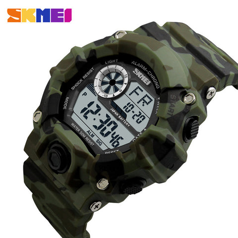 SKMEI New G Style Digital Watch Men military army Watch water resistant Calendar LED Sports Shock Watches relogio masculino 1019