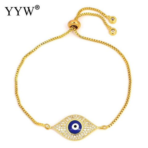 Top Quality blue Evil Eye Austrian Crystal Bracelets for Women Bracelet Pulseira Jewelry Bijoux
