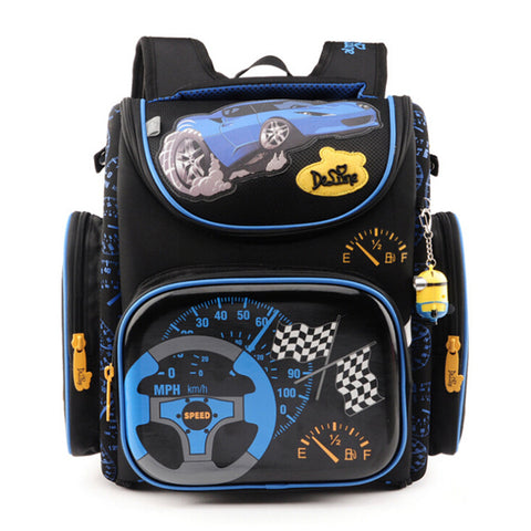 Delune Children School Bags for Boys Orthopedic Backpack Cartoon Cars planes Schoolbag Kids Satchel Mochila Infantil Grade 1-5