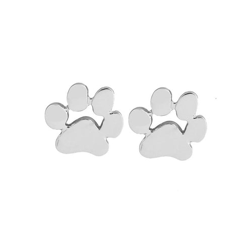 Shuangshuo Fashion earrings brincos Animal Pet Paw Print Stud Earrings for Women Small Cat and Dog Paw Earrings Punk feminina