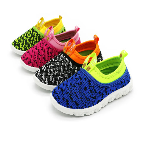 J Ghee 2017 Best Price Kids Shoes Baby Boy Girl Shoes Candy Color Woven Fabric Air Mesh Children Casual Sneakers For Boys Girls